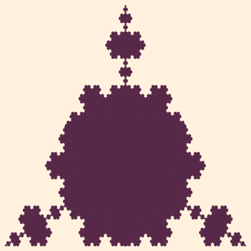 In this example, we accidentally spilled some triflake. It formed a nasty triflake stain that is almost impossible to clean up because of its irrational fractal dimension. We'll be asking Koch for help as only he knows to clean up these fractal spills.